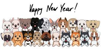 vertaling van de het jaarkaart van 2018 is de nieuwe van Chinees karakter Gelukkig Nieuwjaar Royalty-vrije Stock Foto