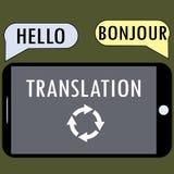 Vertaling van een smartphone Royalty-vrije Stock Afbeelding