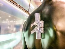 vertebre della colonna vertebrale stampate 3D fotografia stock libera da diritti
