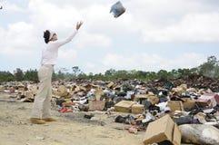 Vertedero de basura en Belice Imágenes de archivo libres de regalías