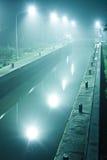 Vertedero del río en la noche Imagenes de archivo