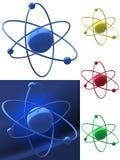 Vertegenwoordiging van een atoomstructuur Stock Foto's