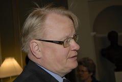 VERTEIDIGUNGS-MINISTER PETER HULTQVIST_SWEDISH stockbild