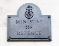 Verteidigungsminister in London lizenzfreie stockbilder