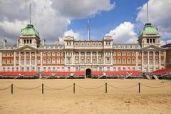 Verteidigungsministerium, Admiralitäts-Haus, Haushalts-Kavallerie-Museum, Pferdeschutz-Parade Westminster, Lizenzfreie Stockfotografie