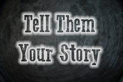 Vertel hen uw verhaal Royalty-vrije Stock Fotografie