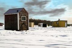 Vertente da pesca do gelo Foto de Stock Royalty Free