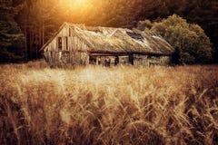 Vertente ou celeiro envelhecido fotografia de stock