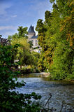 Verteuil sur Charente, France. Verteuil-sur-Charente is a village situated on the banks of the river Charente, in the quiet French countryside with a beautiful royalty free stock image