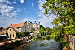 Lovely French village: Verteuil sur Charente, France. Verteuil-sur-Charente is a village situated on the banks of the river Charente, in the quiet French royalty free stock image