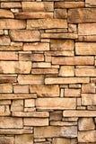 Verticaal beeld van vlakke steenmuur Stock Foto