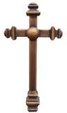 Verticaal brons bruin kruis Royalty-vrije Stock Afbeelding