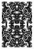 Verticaal decoratief patroon met bloemen Royalty-vrije Stock Fotografie
