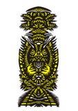 Verticaal decoratief patroon met vogels en bloemen Royalty-vrije Stock Afbeelding