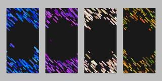 Verticaal die bannermalplaatje met gekleurde diagonale strepen wordt geplaatst Stock Afbeelding