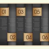 Verticaal document genummerd banners Royalty-vrije Stock Foto