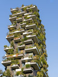 Verticaal Forest Tower in Milan Italy Royalty-vrije Stock Foto's