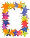 Verticaal kader van document sterren Stock Afbeelding