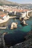 Verticaal landschap met Dubrovnik, Kroatië Stock Foto