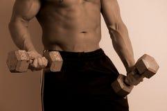 Verticaal lichaam met gewichten royalty-vrije stock foto's