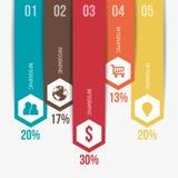 Verticaal Modern Infographic-Malplaatje Royalty-vrije Stock Fotografie