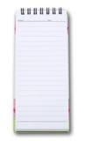 Verticaal notaboek Stock Afbeelding