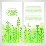 Verticaal ontwerpmalplaatje van brochures, boekjes Stock Foto's