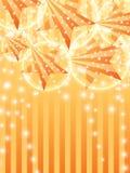 Verticaal oranje de hemeleffect van de ster zijstraal stock illustratie