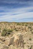 Verticaal Panorama in Zwart Dragon Canyon Royalty-vrije Stock Afbeeldingen
