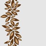 Verticaal patroonkader met bruine bloemblaadjes Stock Foto's