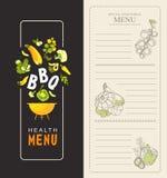 Verticaal speciaal menu Stock Foto