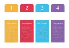 Verticaal vector modern kleurrijk infographic malplaatje met vier s vector illustratie