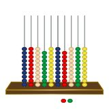Vertical abacus against white Royalty Free Stock Images