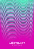 Abstract background 34_1. Vertical abstract background with striped halftone pattern in neon colors. A wavy texture of gradient line ornament. Design template of Royalty Free Stock Photos