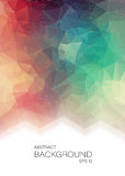Vertical Abstract 2D geometric colorful background. For web design Royalty Free Illustration