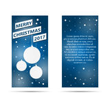Vertical abstract frame with Christmas balls. Abstract frame with Christmas balls vector illustration