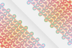 Vertical abstract ribbons design Royalty Free Stock Photo