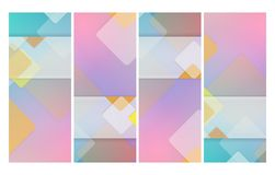 Vertical abstract templates set Stock Image