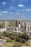 Vertical aerial of downtown Nairobi Royalty Free Stock Photo