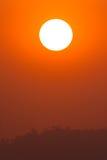 Vertical anaranjada de la puesta del sol Foto de archivo libre de regalías