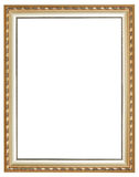 Vertical ancient silver classic wood picture frame Royalty Free Stock Photography