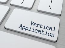 Vertical Application. Technological Concept. Royalty Free Stock Images