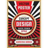 Vertical art poster template in heavy power style. National patriotism freedom vertical banner. Graphic design layout. Music. Concert rock concept vector royalty free illustration
