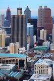 Vertical Atlanta& x27;s downtown Core Stock Image
