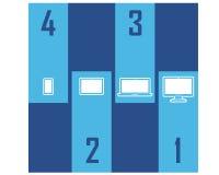 Vertical atrativo de Clipart do projeto de Infographic do dispositivo do dispositivo ilustração royalty free