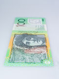 Vertical Australian Hundred Dollar Banknote Standing Up. Dame Nellie Melba Side Up Royalty Free Stock Image