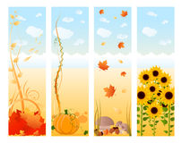 Vertical autumn banners Stock Photos
