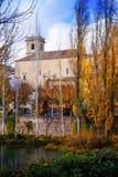 Vertical autumn landscape Stock Photos