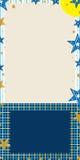 Vertical azul da bandeira da estrela Imagens de Stock
