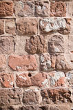 Vertical backdrop of weathered brick Stock Image